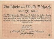 20 Heller ( Aschach a. d. Donau) – reverse