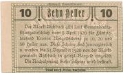10 Heller (Aschbach) – reverse