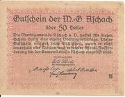 50 Heller (Aschach a. d. Donau) – reverse