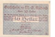 10 Heller (Aschach a. d. Donau) – reverse