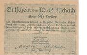 20 Heller (Aschach a. d. Donau) – reverse