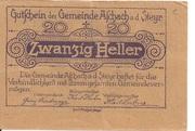 20 Heller (Aschach a. d. Steyr) -  reverse