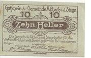 10 Heller (Aschach a. d. Steyr) -  obverse