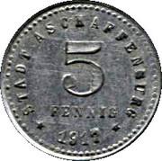 5 Pfennig - Aschaffenburg – obverse