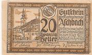 20 Heller (Aschbach) – obverse