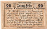 20 Heller (Aschbach) – reverse