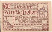 50 Heller (Aschbach) -  obverse