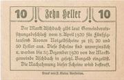 10 Heller (Aschbach) -  reverse