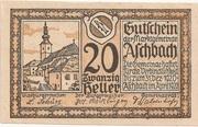 20 Heller (Aschbach) -  obverse