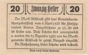 20 Heller (Aschbach) -  reverse