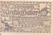 50 Heller (Aschbach) – obverse