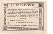 10 Heller (Asten) -  reverse