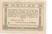 50 Heller (Asten) -  reverse