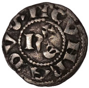 1 Denaro (1141-1220) – obverse