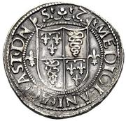 1 Testone - Ludovico XII d'Orléans – reverse