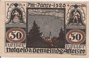 50 Heller (Attersee) -  obverse