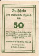 50 Heller (Atzbach) – reverse