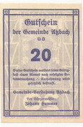 20 Heller (Atzbach) – reverse