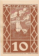10 Heller (Atzbach) – obverse