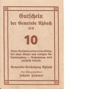 10 Heller (Atzbach) – reverse