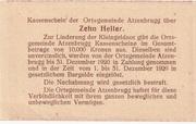 10 Heller (Atzenbrugg) -  reverse