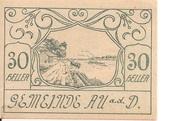 30 Heller (Au an der Donau) -  obverse