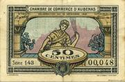 50 Centimes - Chambre de Commerce d'Aubenas [07] – obverse
