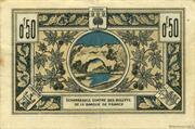 50 Centimes - Chambre de Commerce d'Aubenas [07] – reverse