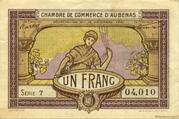 1 franc - Chambre de Commerce d'Aubenas [07] – obverse