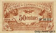 50 centimes - Chambre de Commerce d'Auch [32] – obverse