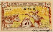 50 centimes - Chambre de Commerce d'Auch [32] -  obverse