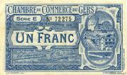 1 franc - Chambre de Commerce d'Auch [32] – obverse