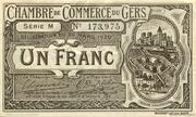 1 franc - Chambre de Commerce d'Auch [32] < sans filigrane> – obverse