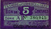 5 centimes - Chambre de Commerce d'Auch [32] – obverse