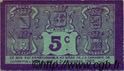5 centimes - Chambre de Commerce d'Auch [32] – reverse