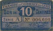 10 centimes - Chambre de Commerce d'Auch [32] – obverse