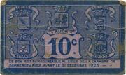 10 centimes - Chambre de Commerce d'Auch [32] – reverse
