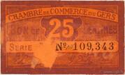 25 centimes - Chambre de Commerce d'Auch [32] – obverse