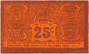 25 centimes - Chambre de Commerce d'Auch [32] – reverse