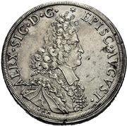 1 Thaler - Alexander Sigismund von Pfalz-Neuburg – obverse