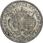 1 Thaler - Alexander Sigismund von Pfalz-Neuburg – reverse