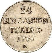 1/24 Thaler - Clemens Wenzeslaus von Sachsen – reverse