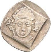 1 Pfennig - Friedrich III. von Hohenzollern and Heinrich IV. von Lichtenau (Vierschlagpfennig) – obverse