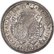 ½ Thaler - Alexander Sigismund von Pfalz-Neuburg – reverse