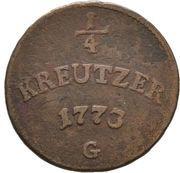 ¼ Kreuzer - Clemens Wenzeslaus von Sachsen – reverse