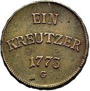1 Kreuzer - Clemens Wenzel von Sachsen – reverse