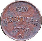 1 Kreutzer - Clemens Wenzeslaus von Sachsen – reverse