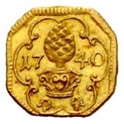 1 Heller (Gold pattern strike) -  obverse