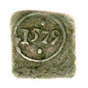 1 Pfennig (Klippe) – reverse