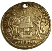 1 Ducat (Silver pattern strike; Augsburg Confession) – obverse